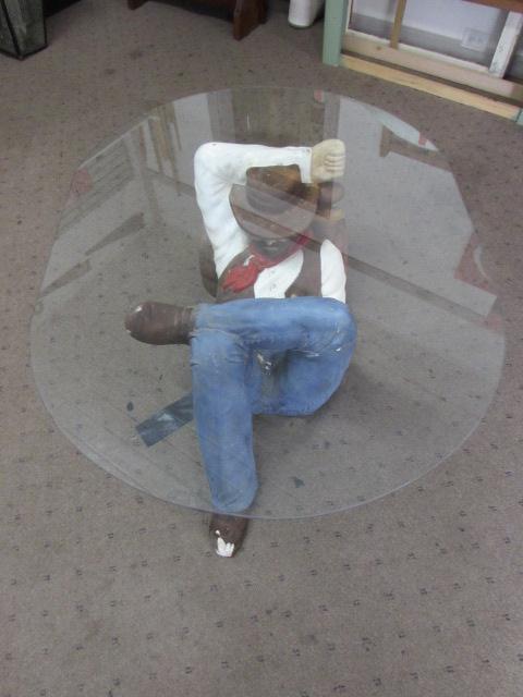 SLEEPING COWBOY COFFEE TABLE ...