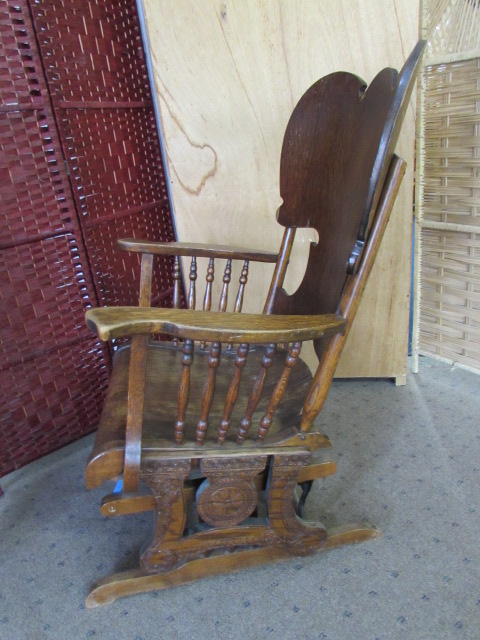 ... ANTIQUE GLIDER CHAIR · ANTIQUE GLIDER CHAIR