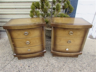 VINTAGE 1950S NIGHTSTANDS THAT MATCH DRESSER IN LOT #2