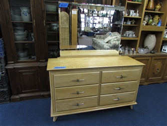 MID-CENTURY DRESSER WITH MIRROR