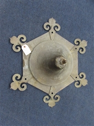 ANTIQUE BRASS ART DECO CEILING FIXTURE