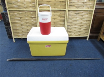 COLEMAN ICE CHEST & PRY BAR