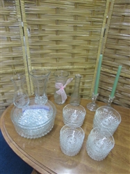 VINTAGE GLASS BOWLS & MORE