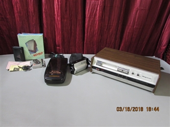 VINTAGE ELECTRONICS - MAGNAVOX 8-TRACK RECORDER, VIDEO RECORDER, SONY WALKMAN & VIDEO RECORDER