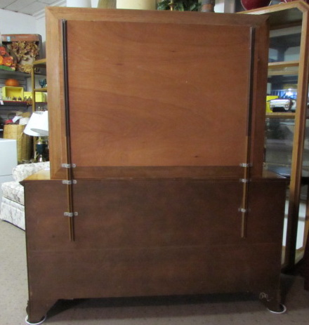 Beautiful Solid Wood Dresser With Attached Mirror