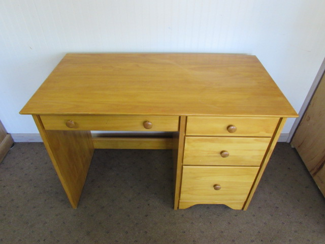Solid Pine Desk With Hanging File Drawer