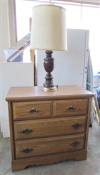 3 DRAWER DRESSER AND LAMP