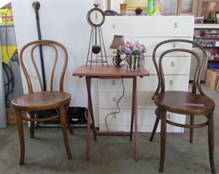 2 ANTIQUE BENTWOOD CHAIRS AND MORE