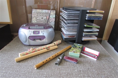 CD/TAPE PLAYER AND MORE