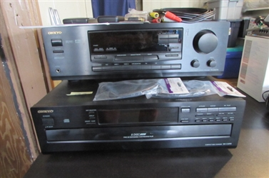 ONKYO STEREO RECEIVER AND CD PLAYER