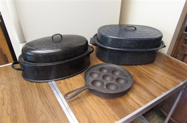 ROASTING PANS AND CAST IRON EBELSKIVER
