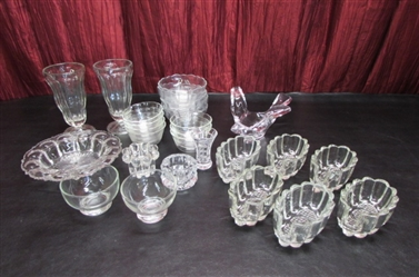 CLEAR GLASS DISHES