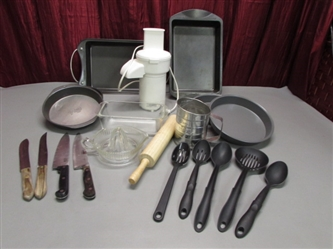 FOOD PROCESSOR, CAKE PANS AND MORE