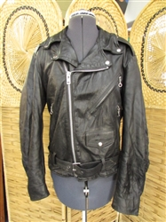"SMALL VINTAGE ""EXCELLED"" LEATHER JACKET"