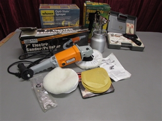 WAGNER STAIN SPRAYER, SPRAY GUN AND MORE