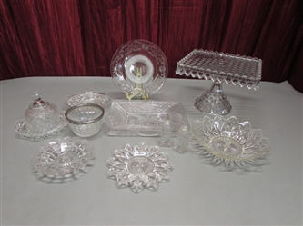 CUT GLASS & CRYSTAL SERVING DISHES