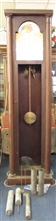 ANTIQUE GERMAN GRANDFATHER CLOCK FOR REPAIR OR PARTS