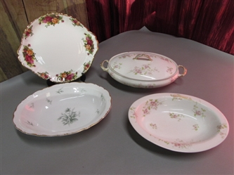 VINTAGE/ANTIQUE CHINA SERVING DISHES & MORE