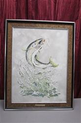 "VINTAGE LIMITED EDITION ""STEELHEAD TROUT"" BY D.W. ANDREWS"