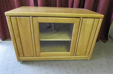 MEDIA CABINET WITH CASTORS