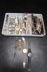 LARGE LOT OF FASHION WATCHES AND BANDS FOR PARTS/REPAIR